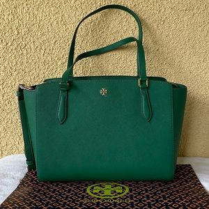NWT Tory Burch Emerson Top Zip Small Tote